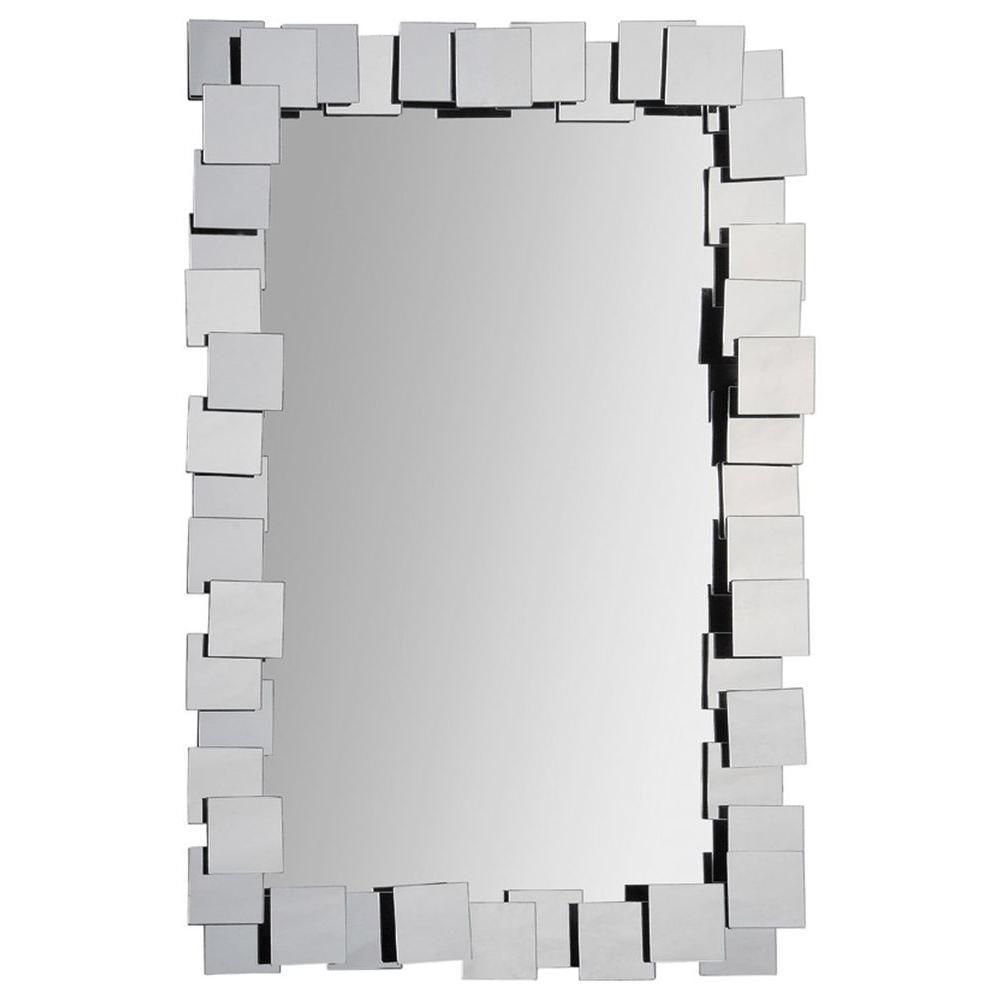 Luna 36 in. x 24 in. Modern Framed Mirror