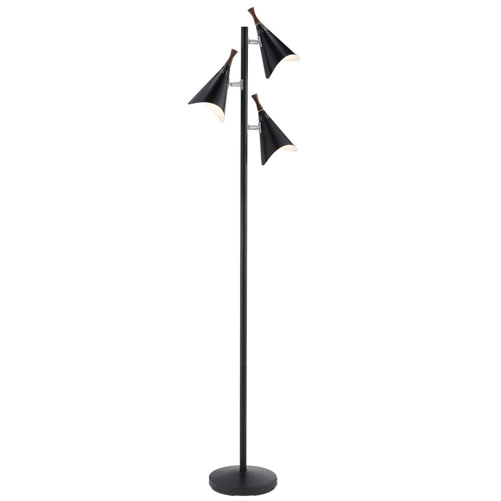 Adesso Draper 68 in. Black Tree Lamp