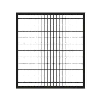 Deco Grid 4 ft. x 4 ft. Black Steel Straight Fence Gate