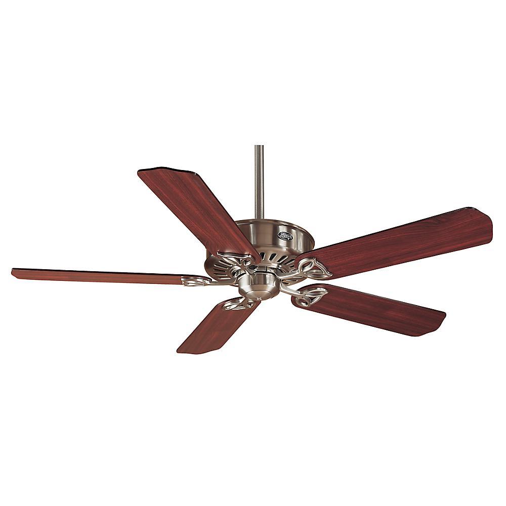 Hunter Denali 54 Brushed Nickel Shinebrite Ceiling Fan: Hunter Discovery 48 In. Indoor Brushed Nickel Ceiling Fan