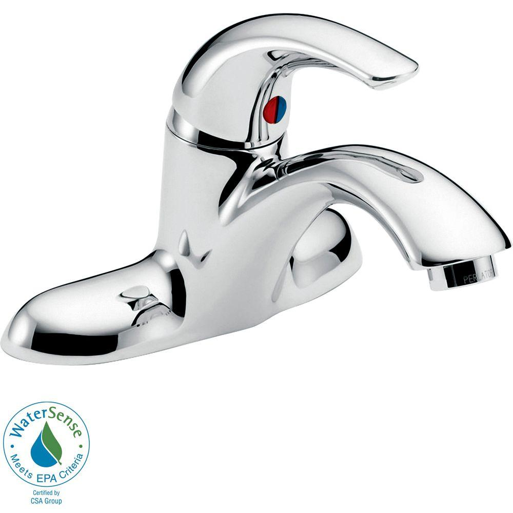 Delta Commercial 4 in. Single-Handle Bathroom Faucet in Chrome