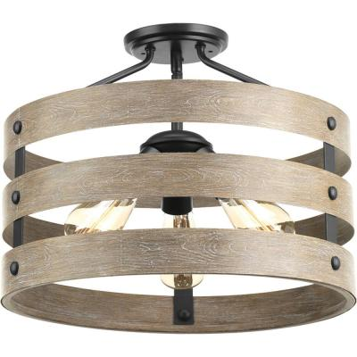 Gulliver Collection Three-Light 17 in. Semi-Flush Convertible