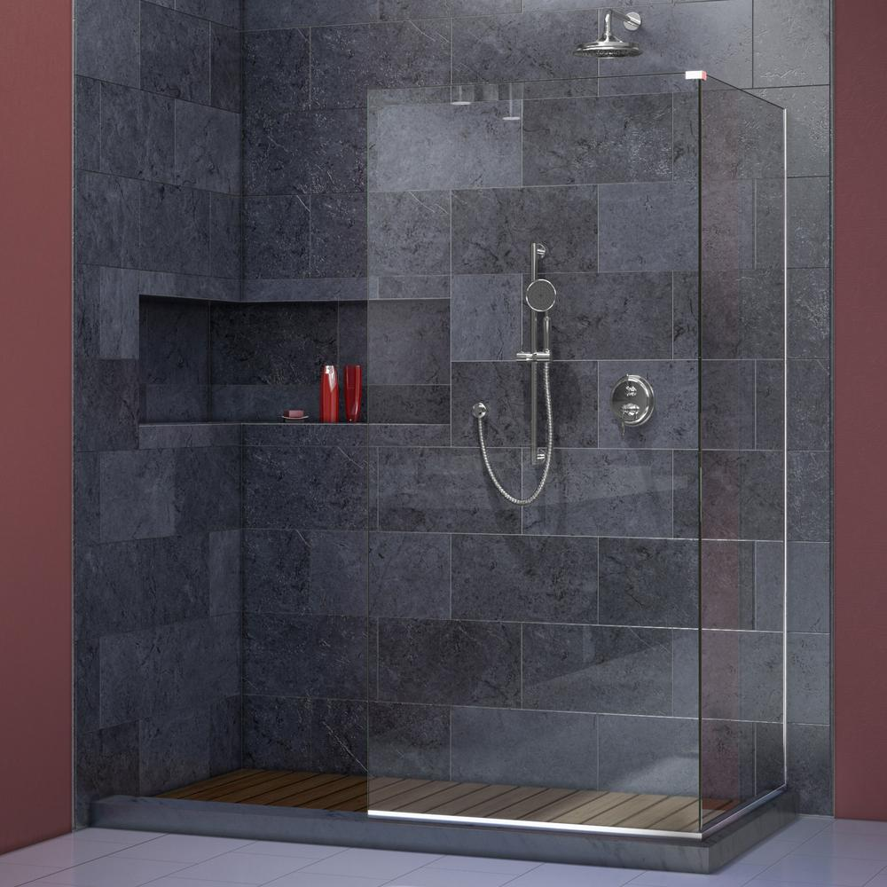 90 degree shower enclosure spray panel frameless custom glas