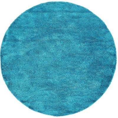 solo turquoise 8 ft x 8 ft round area rug