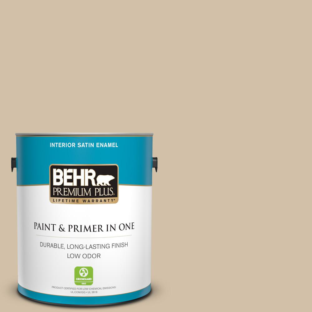 1 gal. #PPU7-08 Baja Satin Enamel Low Odor Interior Paint and