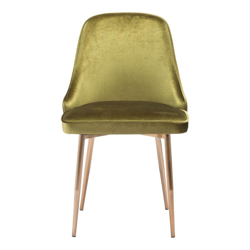 Zuo merritt green velvet dining chair