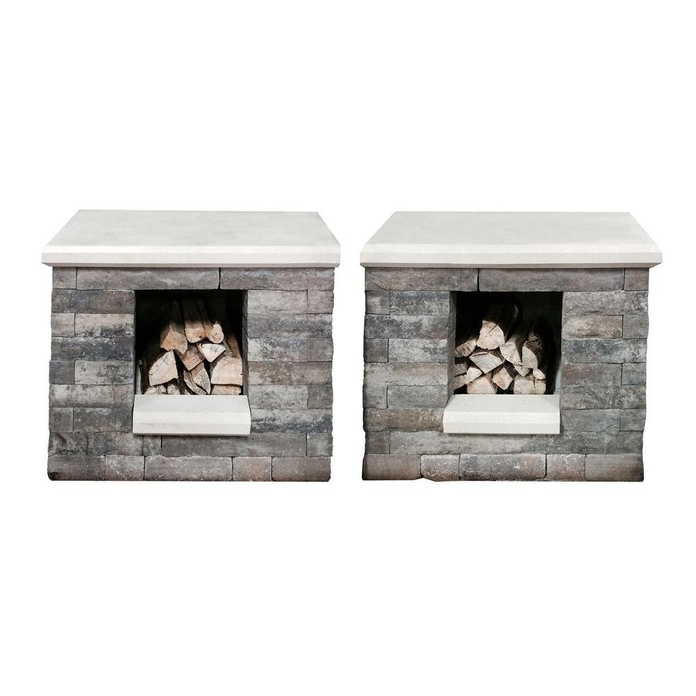 Oldcastle Avondale 37 in. x 39 in. x 25 in. Wood Boxes (2-Pack ...