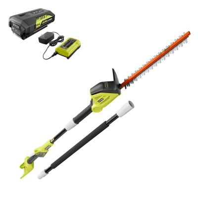 18 in. 40-Volt Lithium-Ion Cordless Pole Hedge Trimmer with 2.0 Ah Battery and Charger Included