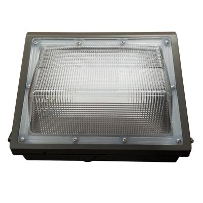 400-Watt Equivalent Bronze Outdoor Integrated LED with Photocell Wall Pack Light