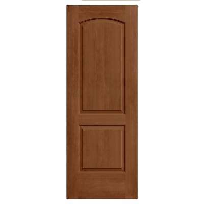 30 in. x 80 in. Continental Hazelnut Stain Solid Core Molded Composite MDF Interior Door Slab