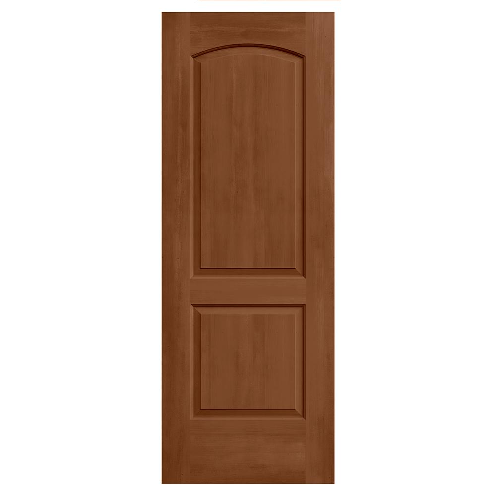 Jeld wen 32 in x 80 in continental hazelnut stain solid for Solid core mdf interior doors