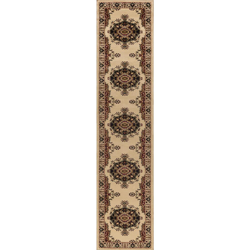 Tayse Rugs Sensation Ivory 2 ft. x 10 ft. Runner