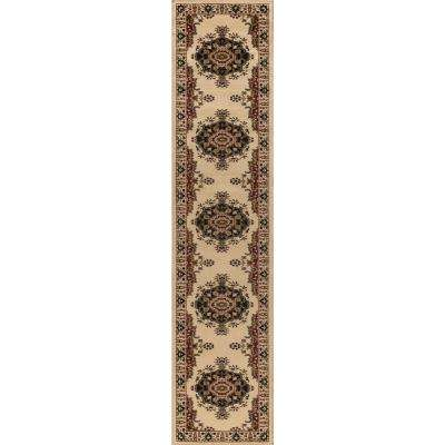 Sensation Ivory 2 ft. x 10 ft. Runner