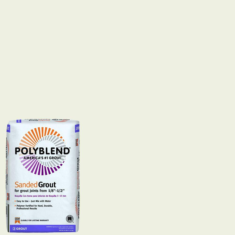 custom building products polyblend 381 bright white 25 lb sanded grout pbg38125 the home depot. Black Bedroom Furniture Sets. Home Design Ideas