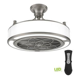 Led Indoor Outdoor Brushed Nickel Ceiling Fan With Remote Control