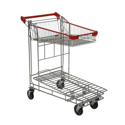 36 in. x 17 in. x 40 in. Nestable Wire Cart