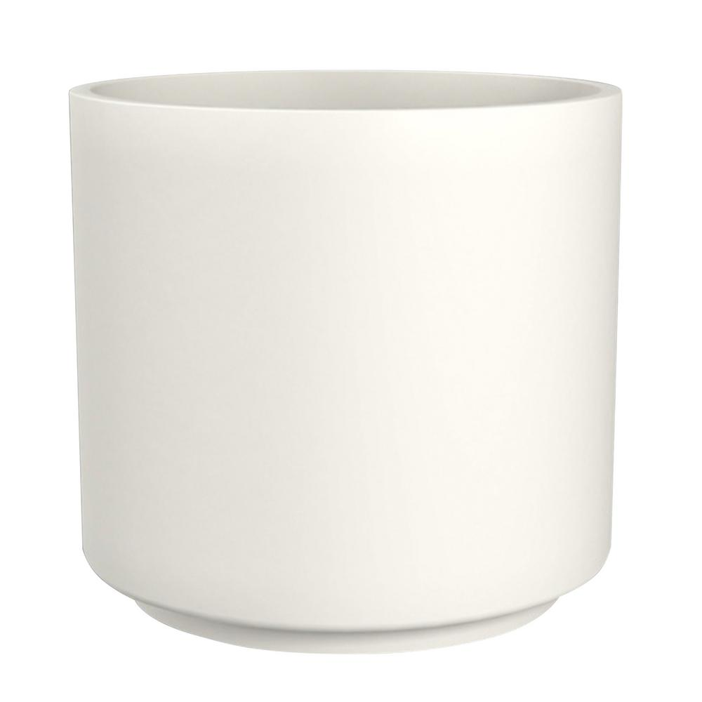 Trendspot 13 In Matte White Cylinder Ceramic Planter Cr11502n 13w The Home Depot