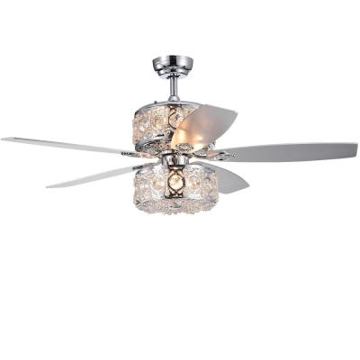Velko 52 in. Chrome Indoor Remote Controlled Ceiling Fan with Light Kit