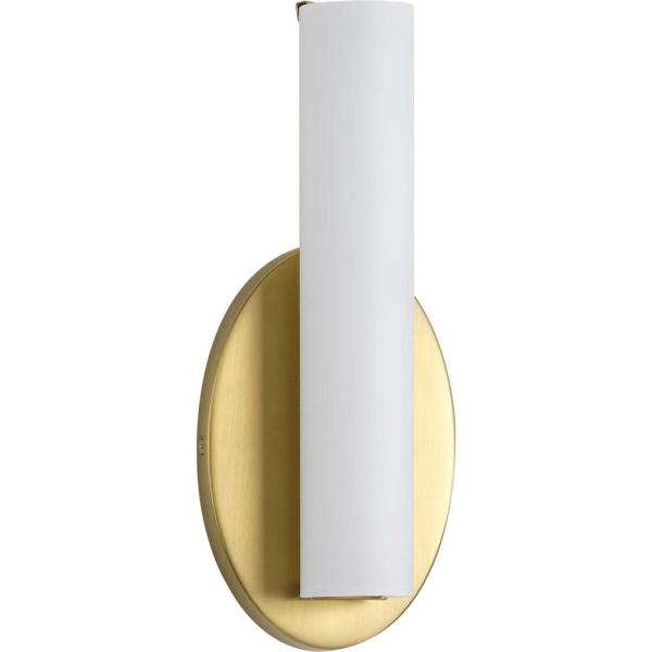 Parallel LED 11 in. Satin Brass LED Wall Bracket