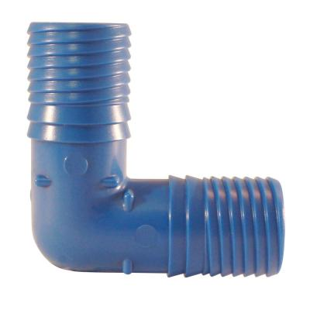 1 in. Polypropylene Blue Twister Insert 90-Degree Elbow