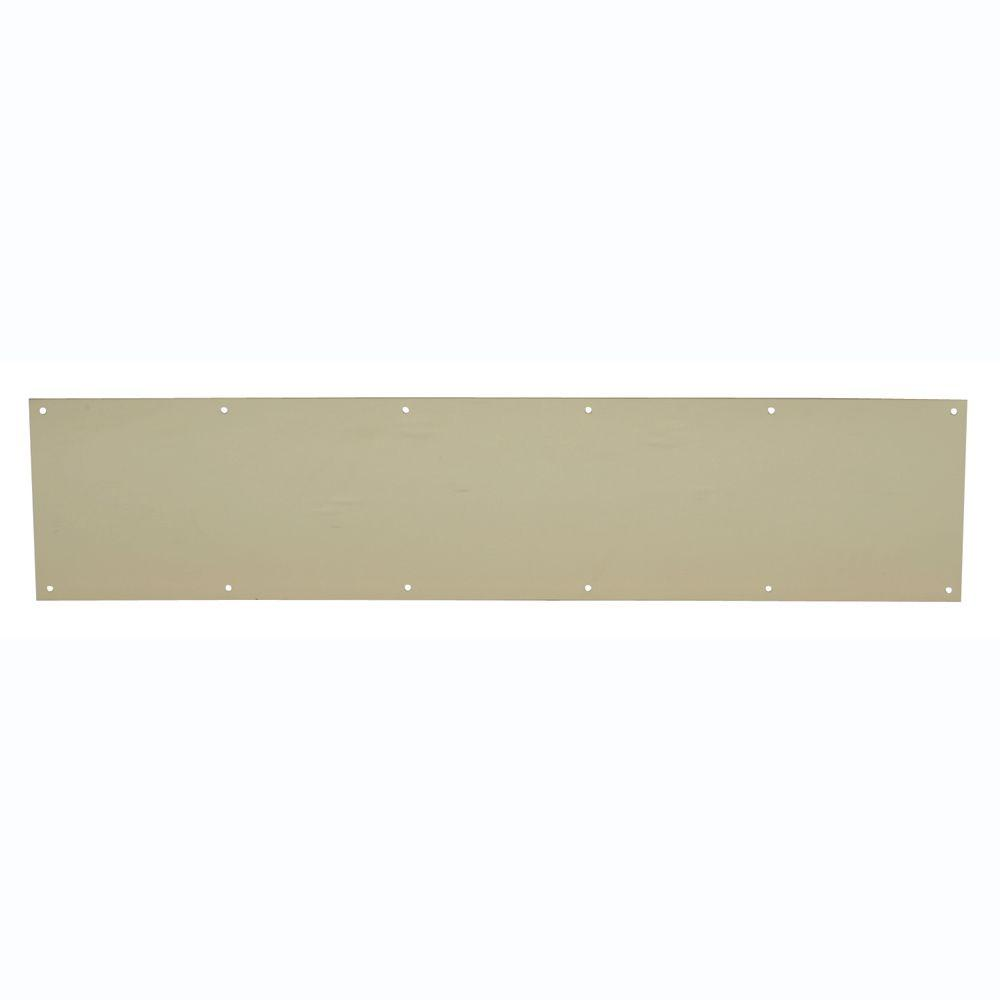 8 in. x 34 in. Bright Brass Kickplate