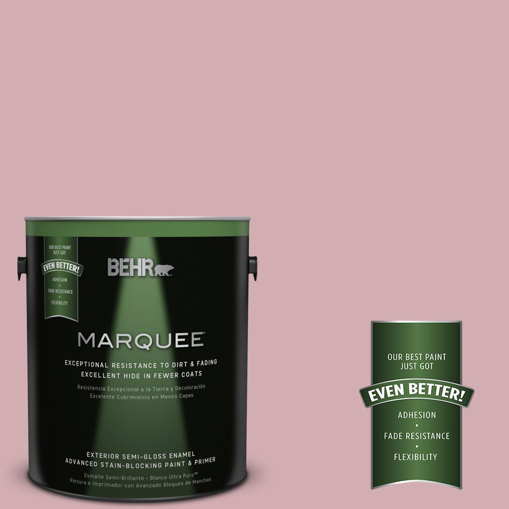 BEHR MARQUEE 1-gal. #S130-3 Ballet Rose Semi-Gloss Enamel Exterior Paint