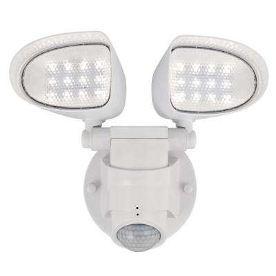 18-Watt 180-Degree White Motion Activated Outdoor Integrated LED Flood Security Light