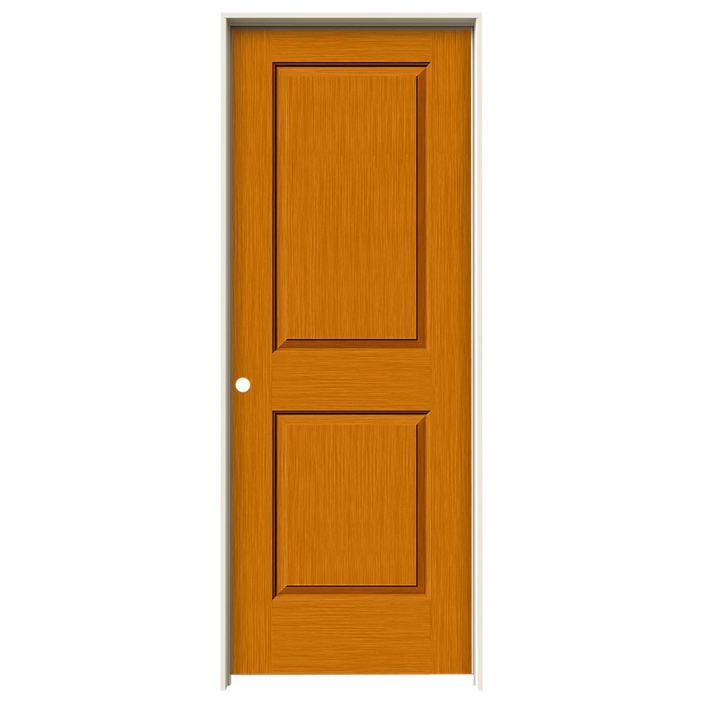 Jeld wen 32 in x 80 in cambridge saffron stain right for Solid core mdf interior doors