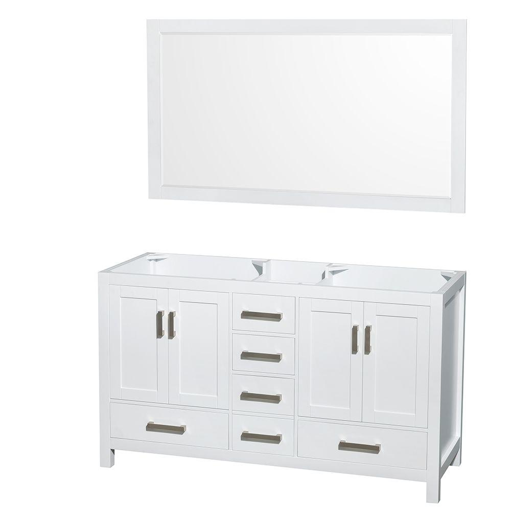Wyndham Collection Sheffield 59 in. Double Vanity Cabinet with 58 ...