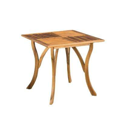 Camdyn Teak Square Wood Outdoor Dining Table