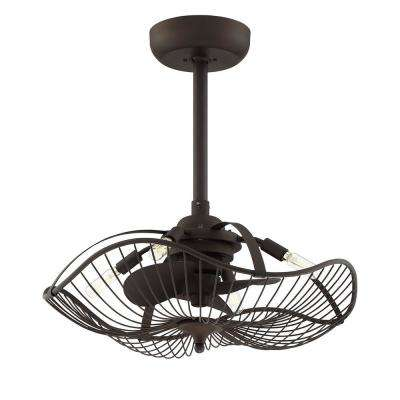 Auri 22.25 in. Indoor Aged Bronze Ceiling Fan with Light and Remote Control