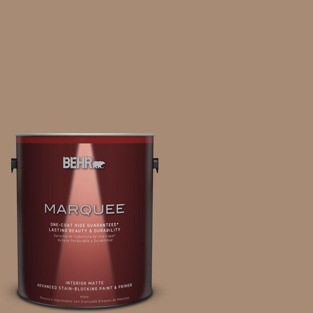 1 gal. #N240-5 Rodeo Tan One-Coat Hide Matte Interior Paint