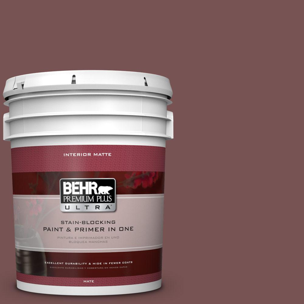 5 gal. #120F-6 Japanese Maple Flat/Matte Interior Paint
