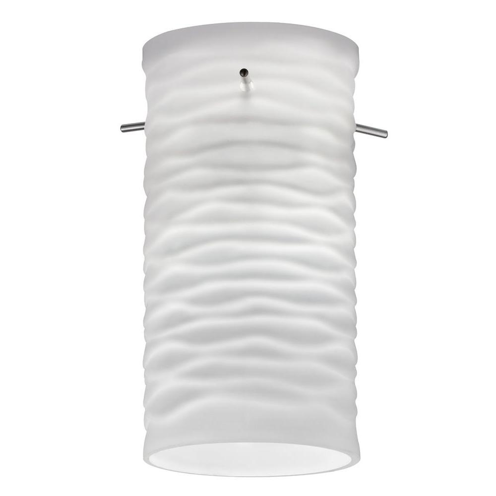 Cylinder Wave Glass Shade for LED Mini Pendant