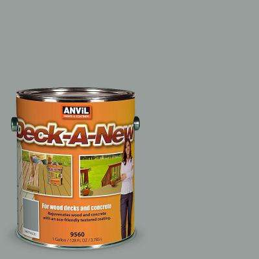 Deck-A-New 1 gal. Driftwood Rejuvenates Wood and Concrete Decks Premium Textured Resurfacer