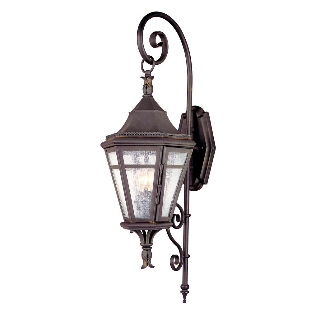 Morgan Hill 2-Light Natural Rust Outdoor Wall Mount Lantern