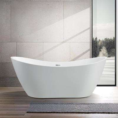 Mulhouse 71 in. Acrylic Flatbottom Freestanding Bathtub in White