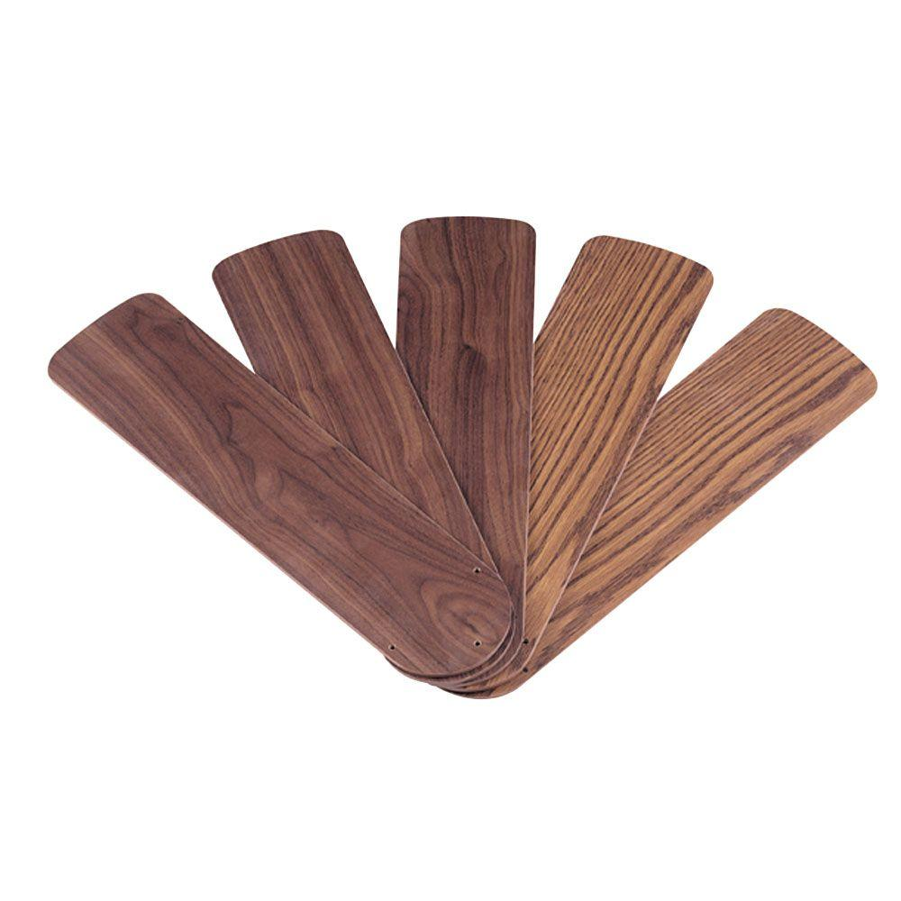 Westinghouse 52 in Oak Walnut Indoor Replacement Fan Blades 5
