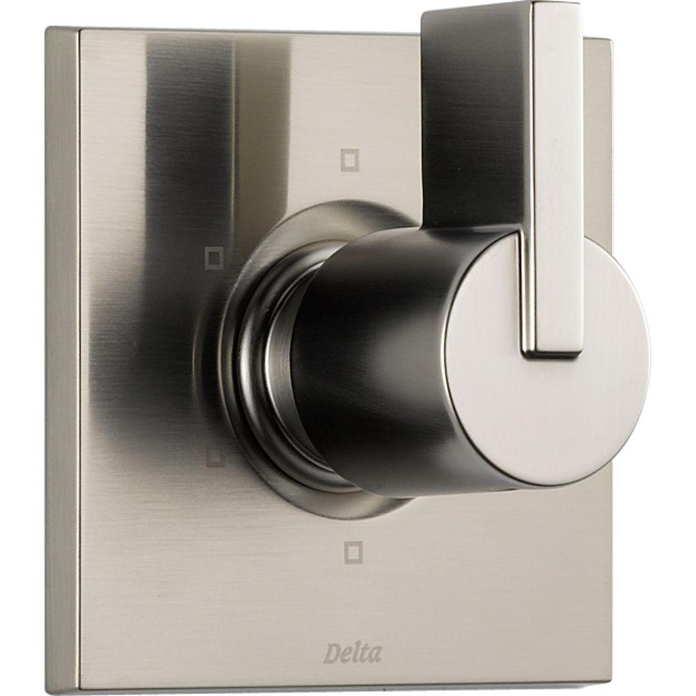 Delta Vero 1-Handle 6-Setting Diverter Valve Trim Kit in Stainless (Rough In Not Included)
