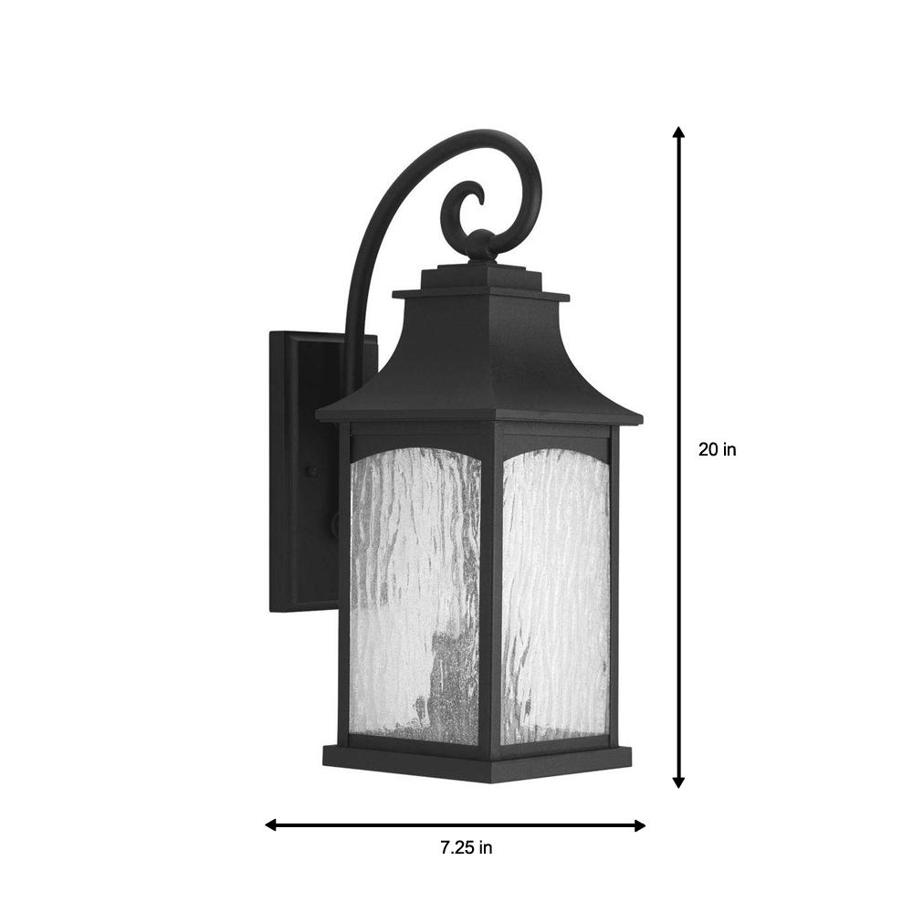 Progress Lighting Maison Collection 2 Light Black 20 In Outdoor Wall Lantern Sconce
