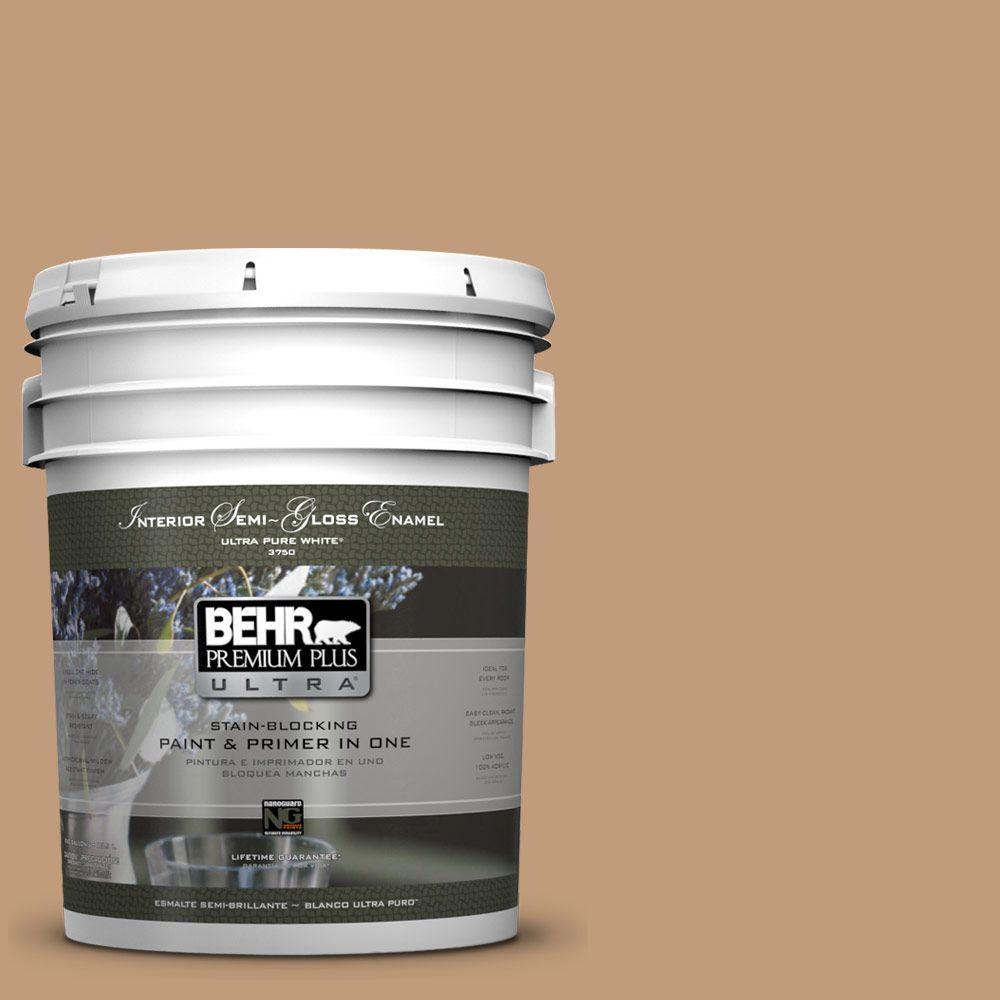 5 gal. #PPU4-6 Teatime Semi-Gloss Enamel Interior Paint and Primer in