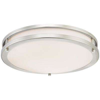 100-Watt Brushed Nickel Integrated Dimmable ENERGY STAR LED Flush Mount