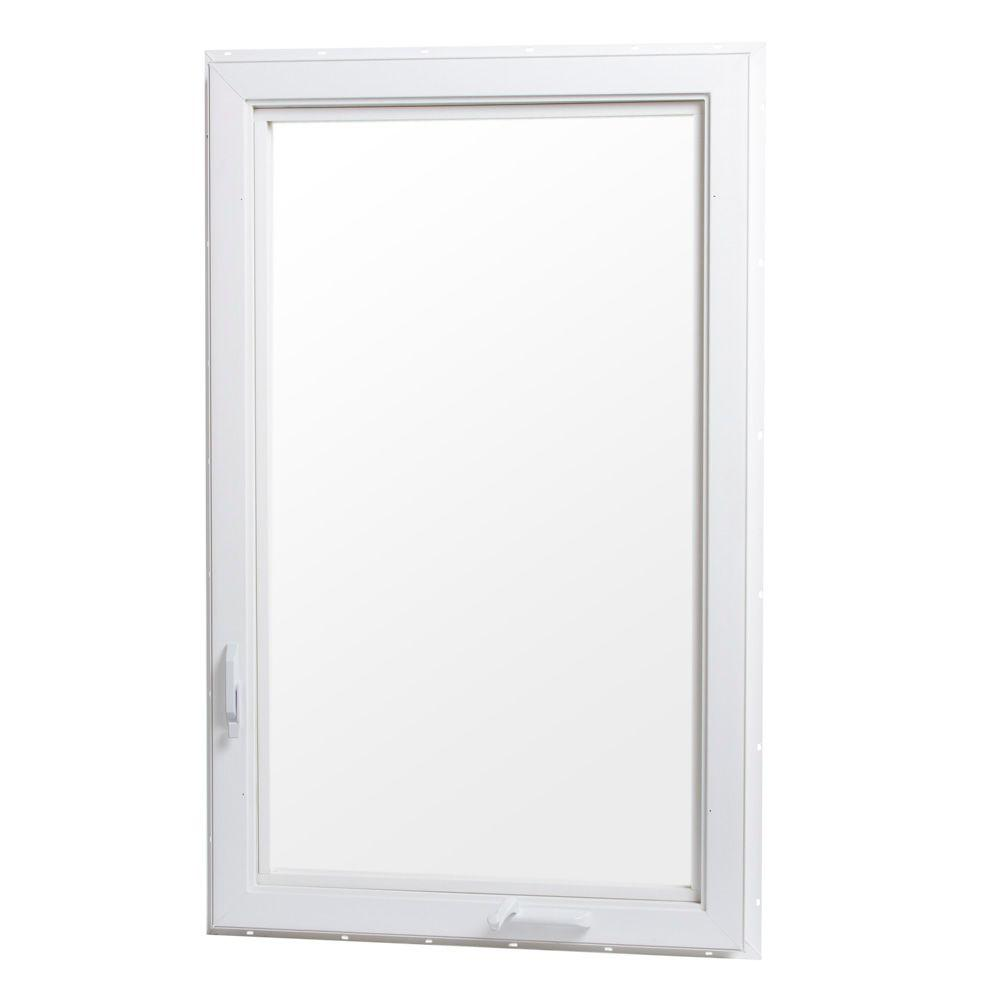 24 in. x 36 in. Right-Hand Vinyl Casement Window with Screen