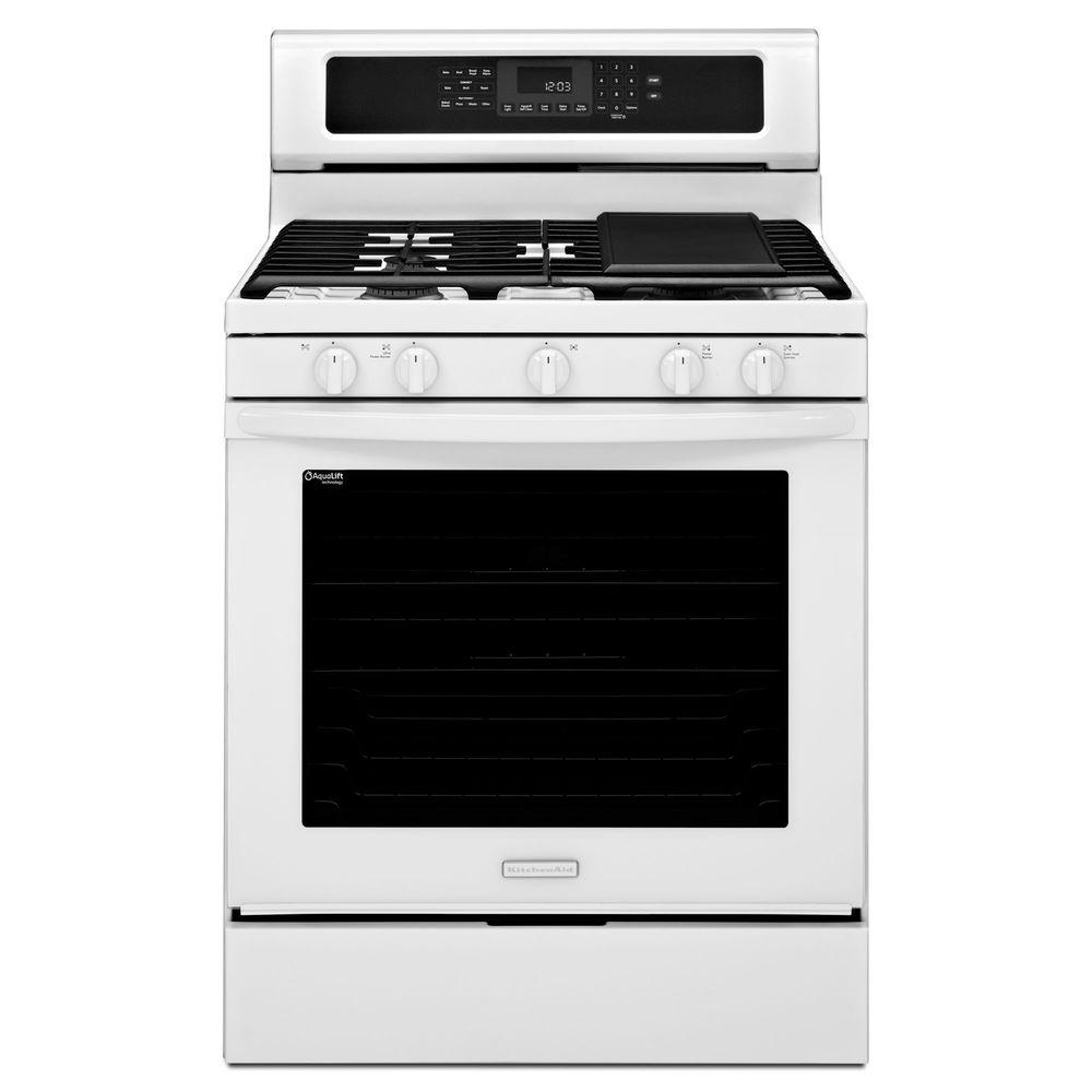 KitchenAid Architect Series II 5.8 cu. ft. Gas Range with Self-Cleaning Convection Oven in White