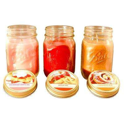 Bake Shoppe Collection 12 oz. Mason Jar Scented Candles (3-Pack)