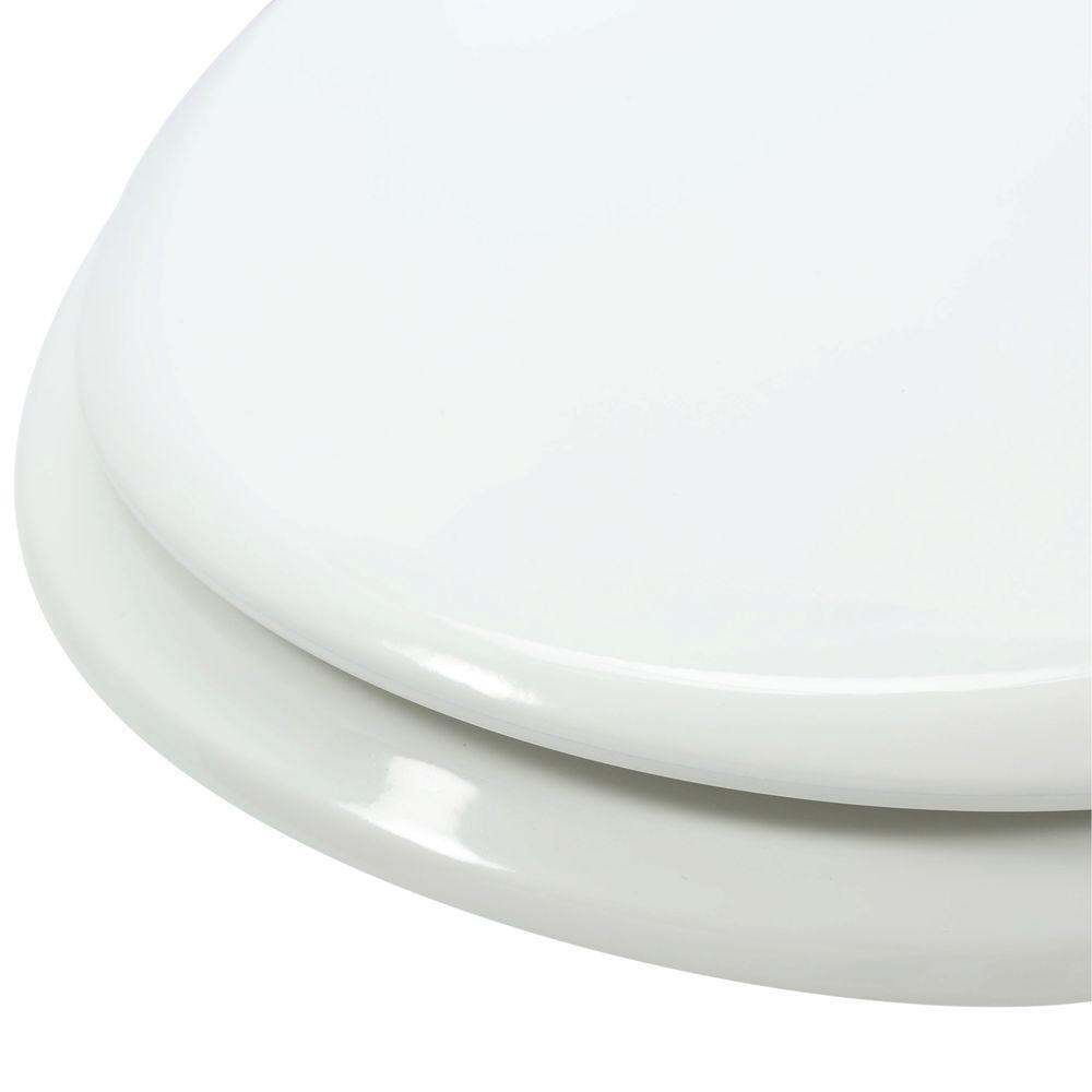 Magnificent Bemis Slow Close Lift Off Elongated Closed Front Toilet Seat In White Creativecarmelina Interior Chair Design Creativecarmelinacom