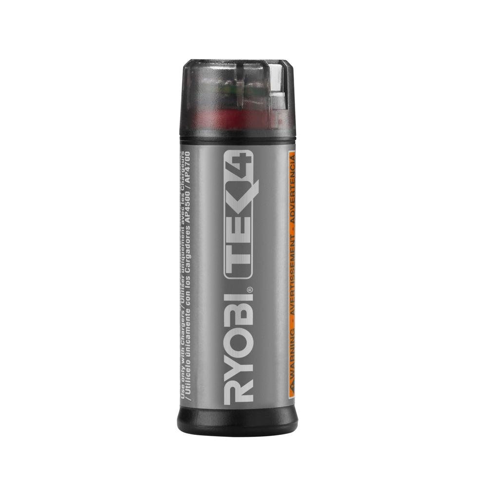 ryobi 4 volt tek4 lithium ion battery pack ap4001 the home depot. Black Bedroom Furniture Sets. Home Design Ideas