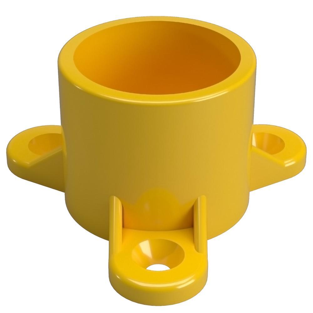 3/4 in. Furniture Grade PVC Table Screw Cap in Yellow (10-Pack)