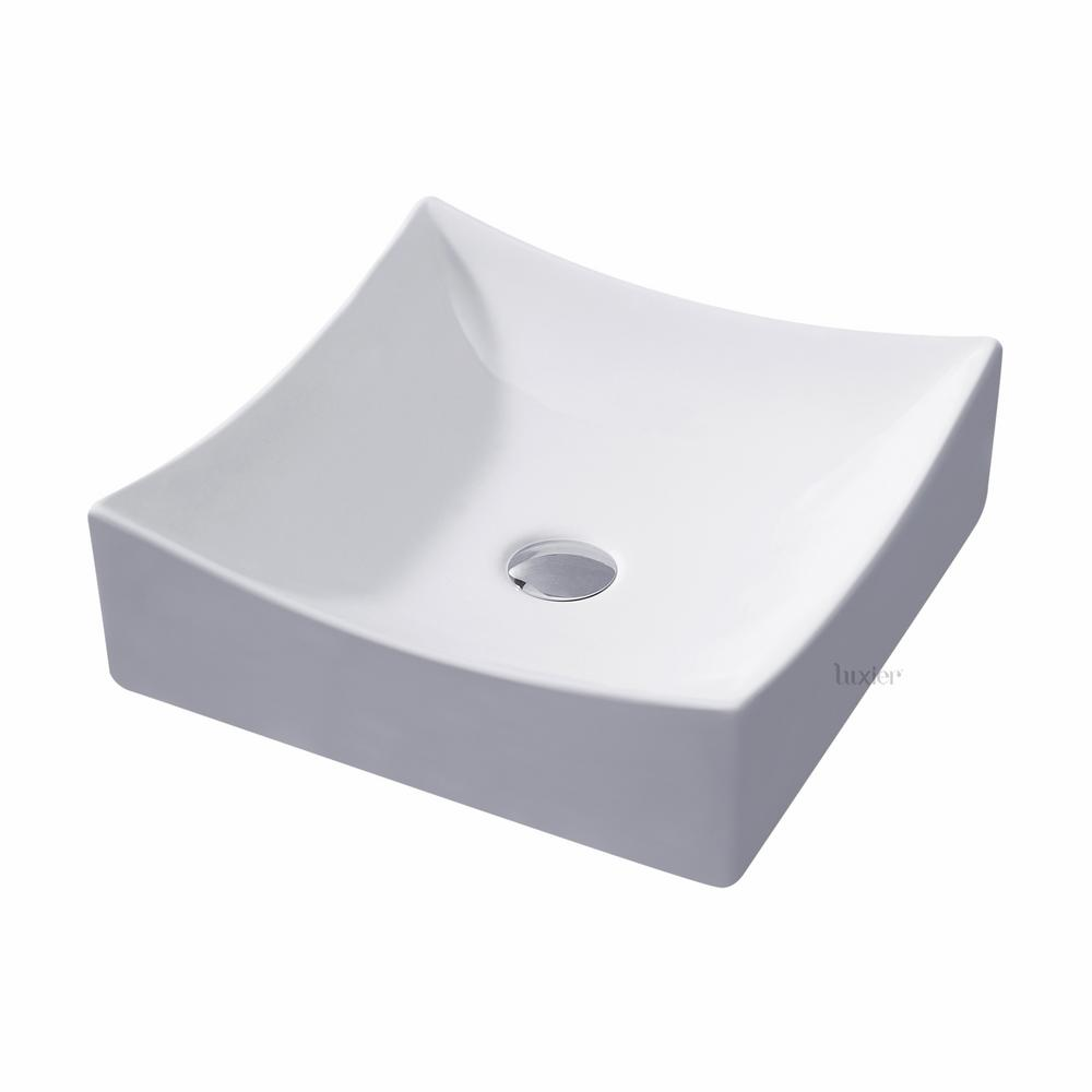 Luxier Bathroom Porcelain Ceramic Vessel Vanity Sink Art Basin In