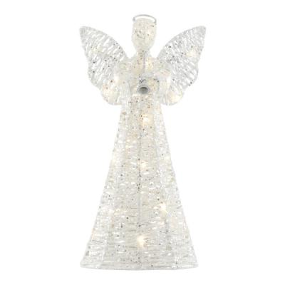 14 in. Lighted Twinkling LED Angel Christmas Tree Topper